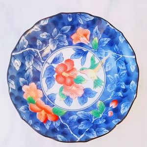 ❤ 4 for $25 ❤ #1202 Japan Hummingbird Blue Ceramic